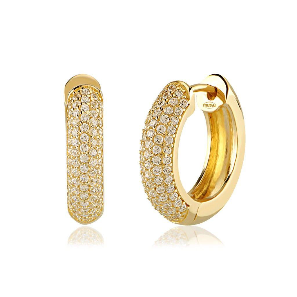 16 Nice Designs Of Gold Hoop Earrings | Gold hoops, Diamond and ...
