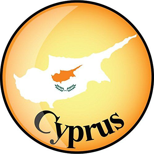 Cyprus Map Flag Label Home Decal Vinyl Sticker 12 X 12 Read More At The Image Link This Is An Affiliate Link Wind Vinyl Sticker Flag Window Stickers