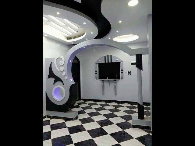 Placoplatre Decoration Comment Faire Un Arc كيفية صنع قوس Part 01 House Ceiling Design House Arch Design Hall Room Design