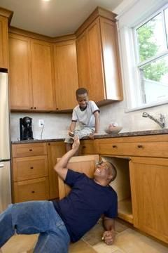 How To Replace A Sink Cabinet Bottom Cleaning Under Kitchen