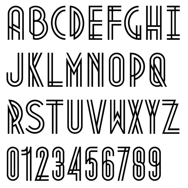 Art Deco Font Alphabet