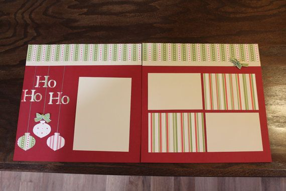 12x12 Premade 2page Christmas Scrapbook by QualityHomeServices, $14.00