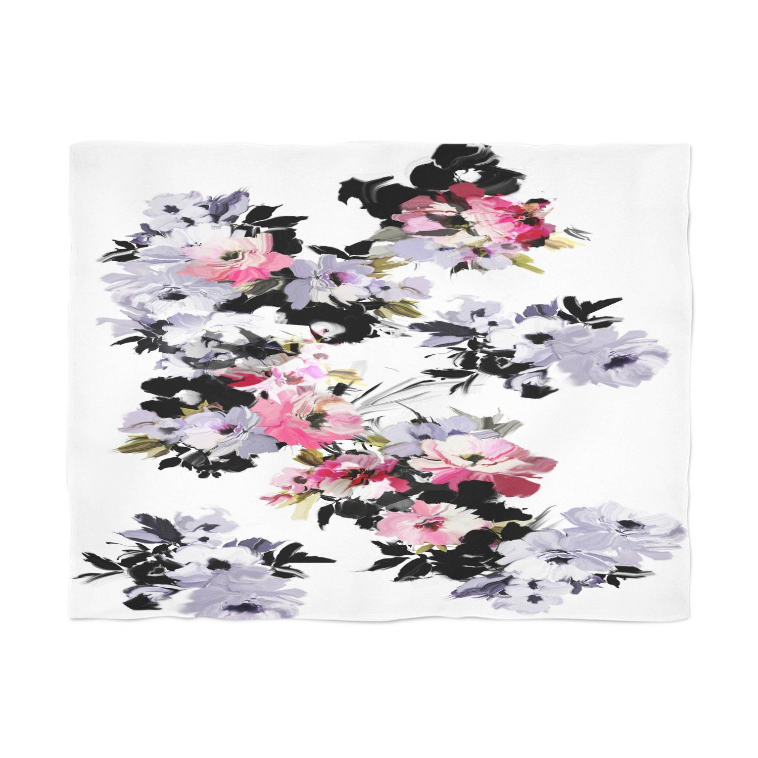 Amazon.com: Gillham Studios Colorful Watercolor Floral Comfortable Microfiber Fleece Throw Blanket (60x50 inch) Bright Daisies and Roses: Home & Kitchen