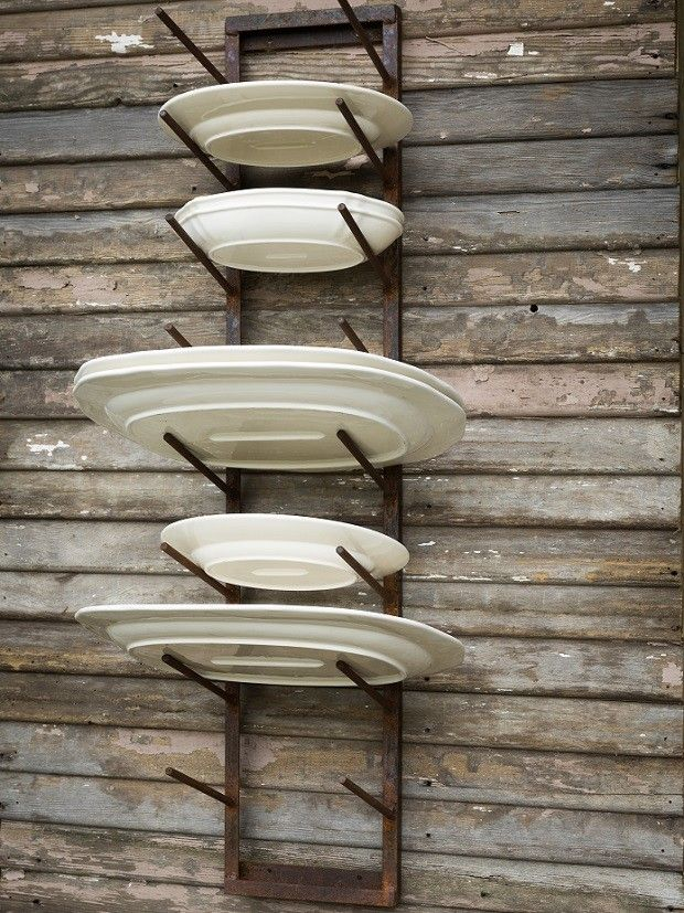 Rustic Iron Wall Plate Rack & Rustic Iron Wall Plate Rack | Hanging plates Plate racks and Kitchens