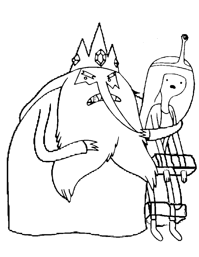 Adventure Time Princess Bubblegum And Ice King Coloring Pages Adventure Time Coloring Pages Adventure Time Free Adventure Time Princesses