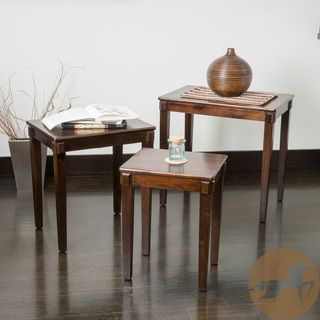 Christopher Knight Home Quentin Acacia Wood Nesting Tables (Set of 3) | Overstock.com Shopping - Great Deals on Christopher Knight Home Coffee, Sofa & End Tables