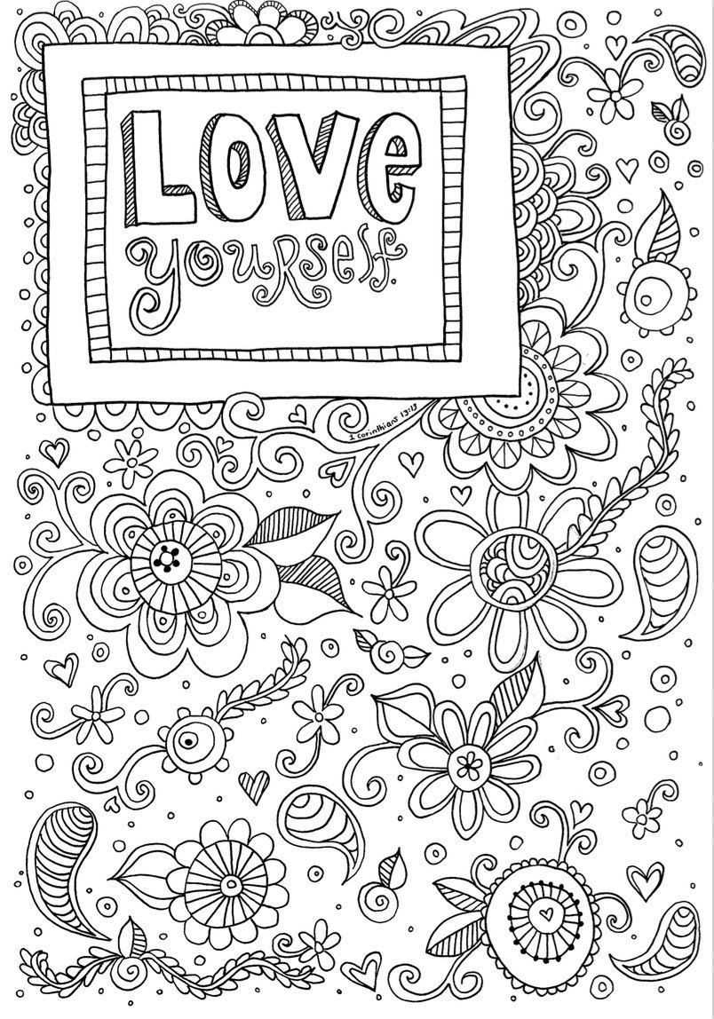 Love Creative Quiet Time Coloring Page Coloring For Etsy Coloring Pages Quote Coloring Pages Valentine Coloring Pages