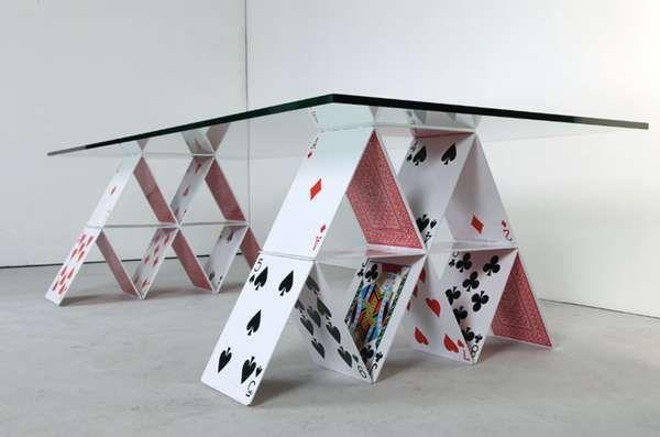 Playing Card Furniture Creative Coffee Table Coffee Table