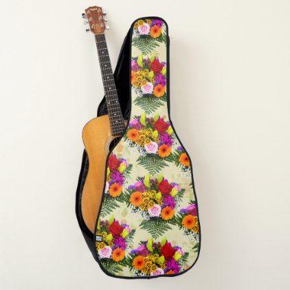 Flower Arrangements For Acoustic Guitar Case Zazzle Com Acoustic Guitar Case Guitar Case Guitar Bag