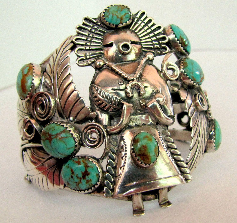 Katchina Medicine Man Cuff Designer unknown Sterling silver and