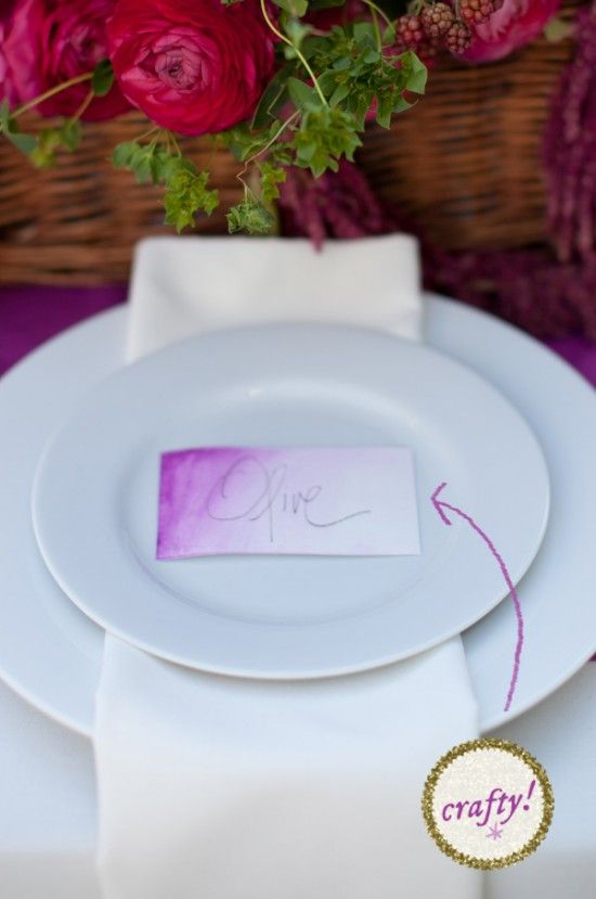 How To Make Watercolor Wedding Place Cards Wedding Place Cards