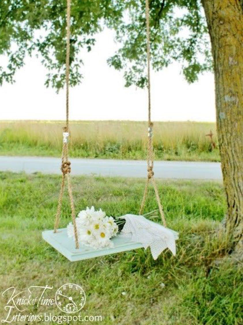 Pin By Kim Dava On Miniaturas Wooden Tree Swing Wooden Swings Tree Swing