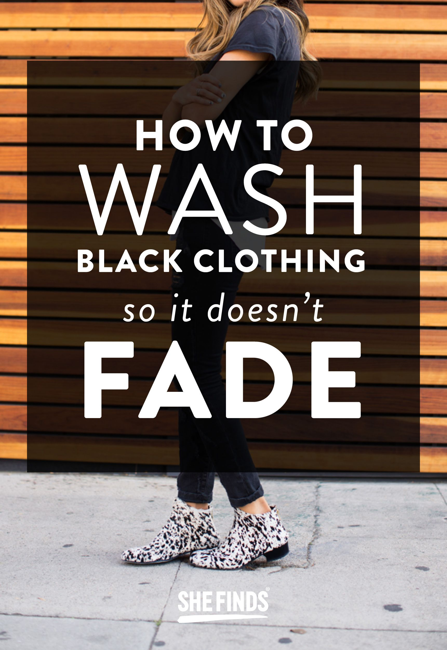 How To Wash Black Clothing So It Doesn't Fade