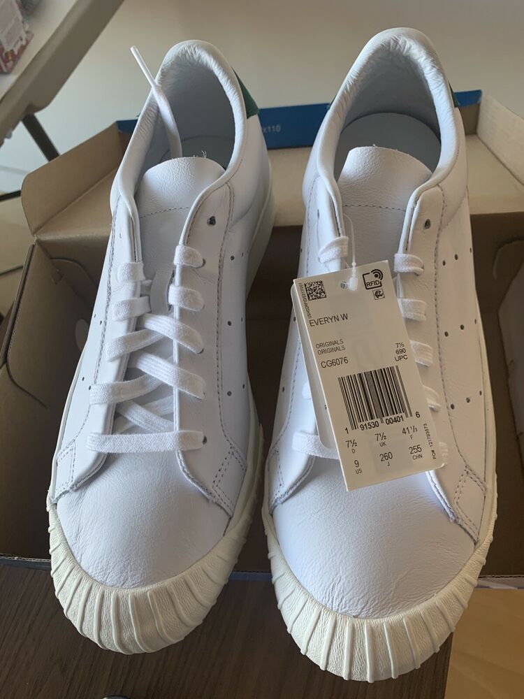 c68960573e8 Adidas originals everyn shoes womens size 9 us 41 eur white green leather  New