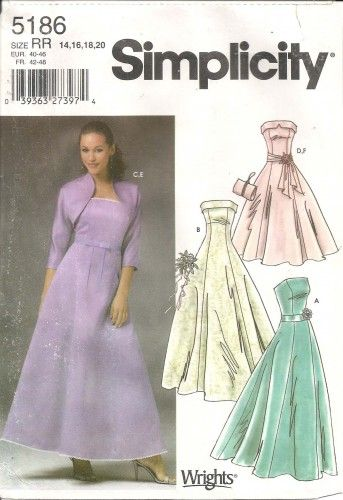 simplicity pattern 5186 - Google Search | Sewing Patterns - Evening ...