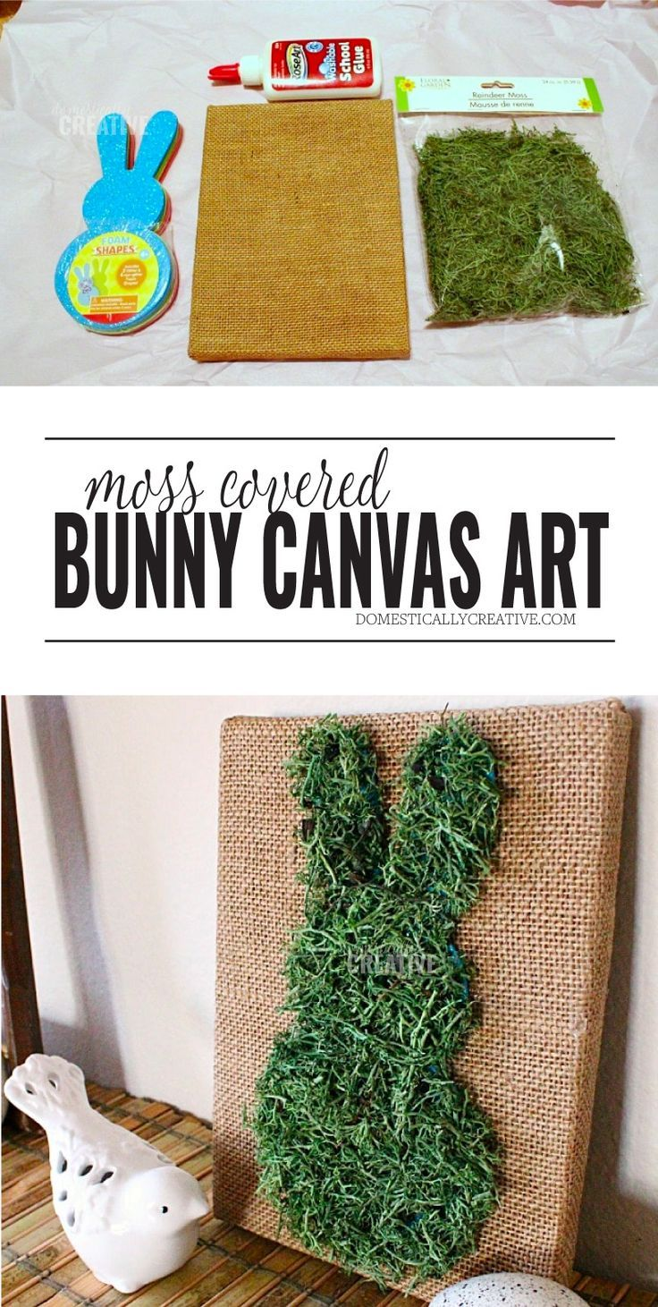 Moss Covered Bunny Canvas Art