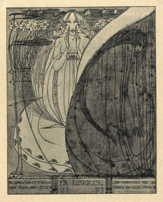 Ex libris by Frances Macdonald (Scot) for anon., 1898