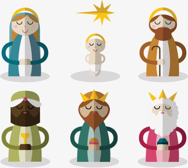 6 nativity characters vector material jesus nativity emperor png rh pinterest com
