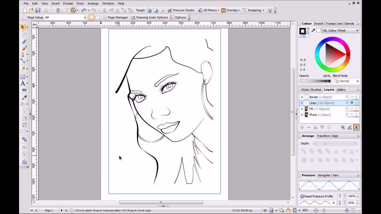 Serif drawplus x6 tutorial pen and pencil drawing