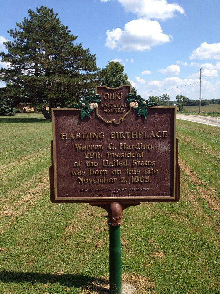 warren harding birthplace