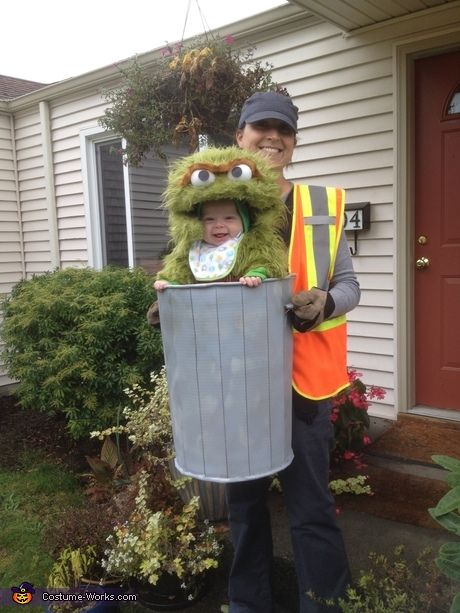 parent and baby costume ideas oscar the not so grouchy grouch costume