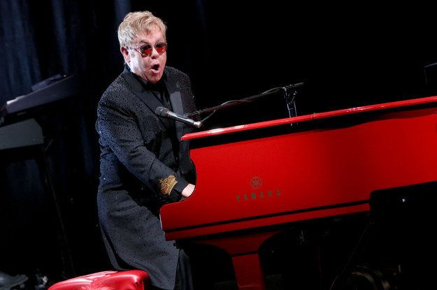 Watch Elton John Perform A Moving Tribute To David Bowie