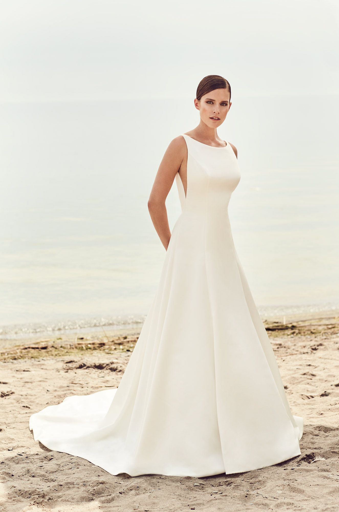 Mikaella Bridal Designer Wedding Dresses Made With Love In Canada Wedding Dress Necklines Sleek Wedding Dress Mikaella Bridal [ 2000 x 1325 Pixel ]