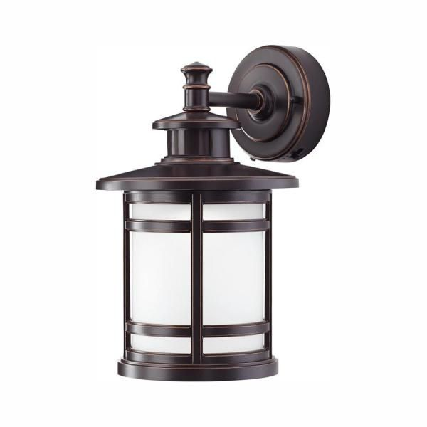 Home Decorators Collection Oil Rubbed Bronze Motion Sensor Outdoor Integrated Led Wall Lantern Sconce Jaq1691l 2 The Home Depot In 2020 Wall Mount Lantern Outdoor Light Fixtures Wall Lantern