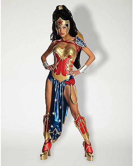98254701591 Adult Anime Wonder Woman Costume - DC Comics - Spencer's | cosplay ...