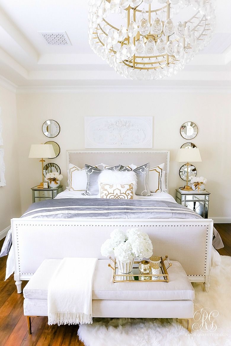 Luxurious Silver and Gold Fall Bedroom - Randi Garrett Design