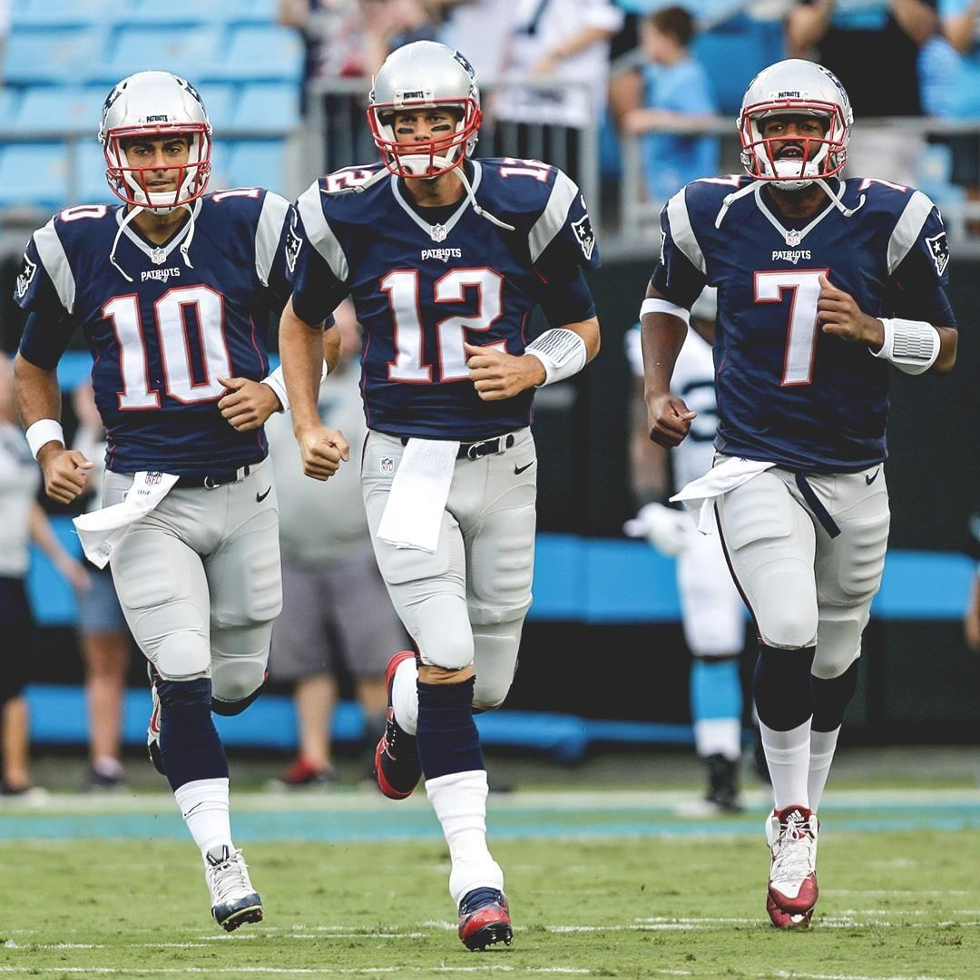 This Patriots Qb Group Was Unreal Tom Brady Jimmy Garoppolo And Jacoby Brissett Are A Combined 9 2 Heading Into Week 5 Patriots Qb Tom Brady Patriots