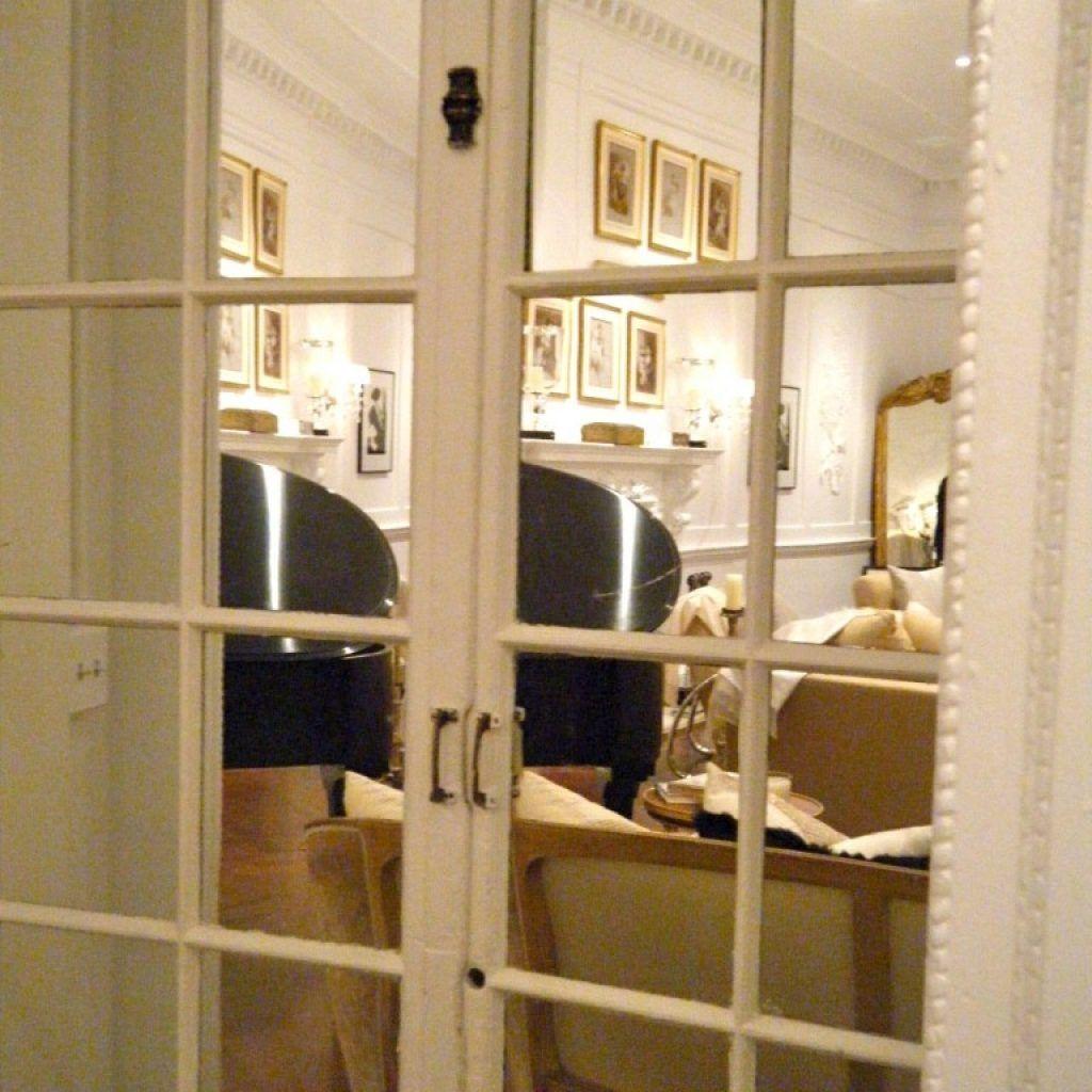 Mirrored Interior French Doors