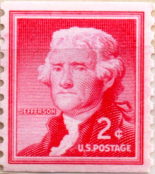 Jefferson 2 Cent Stamp Red