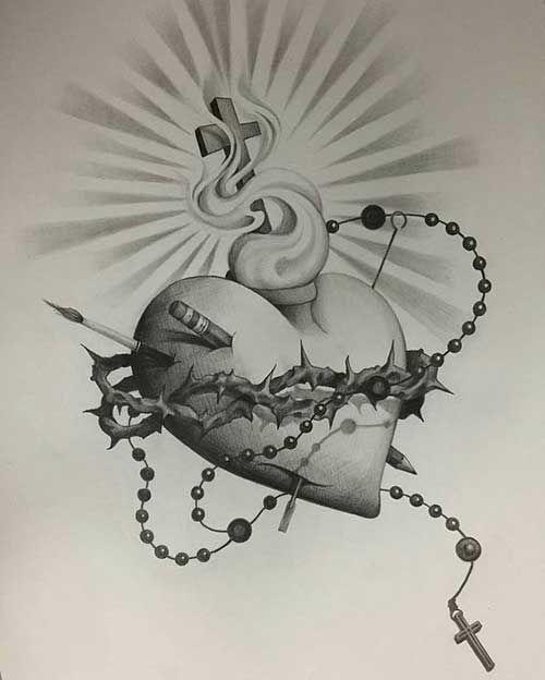 50 Tatuagens De Jesus Cristo Braco Costas Barriga Perna Coxa Tatuajes De Sagitario Tatuaje Sagrado Corazon Tatuaje De Cristo