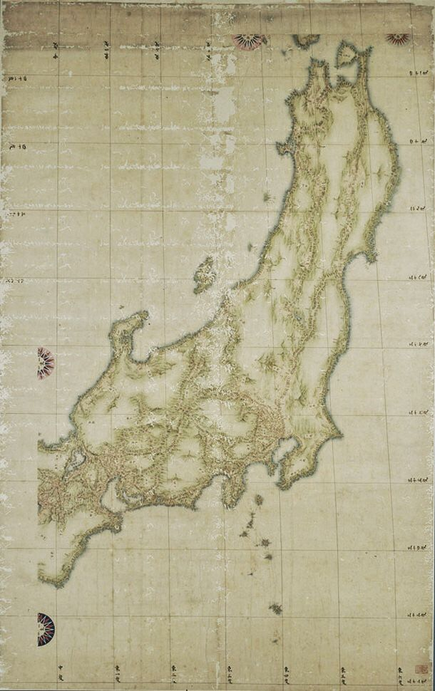 Detail  Early 19th century Japanese Map  Creator name Ino Tadataka     Early 19th century Japanese Map  Creator name Ino Tadataka  Creator date  1745