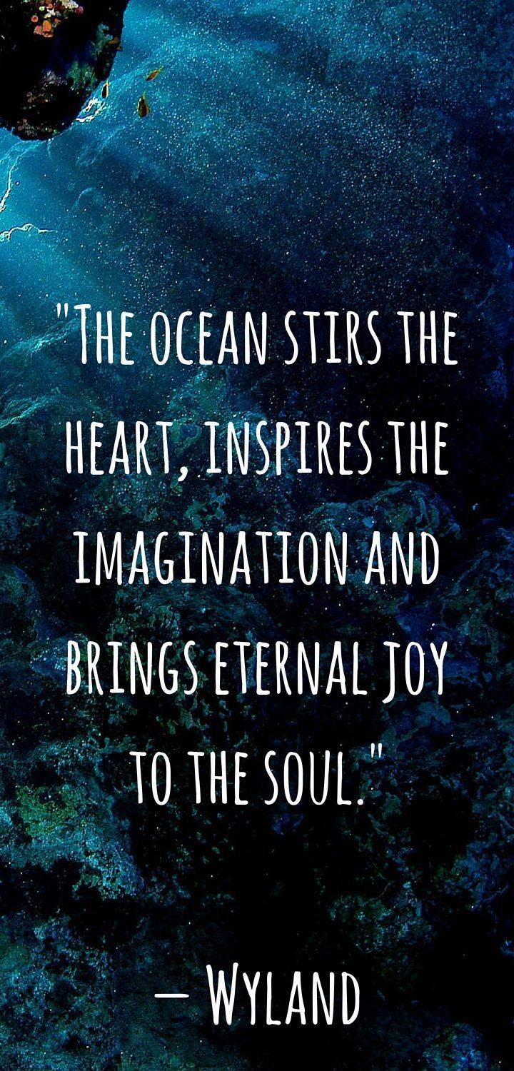 Ocean quotes | Words | Pinterest | Zitate, Sprüche and Ozean
