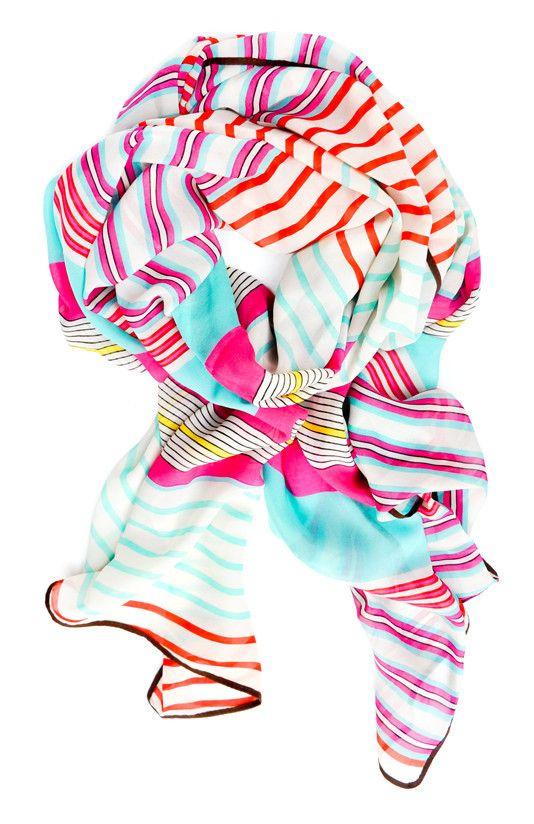 Stripes & Bars Chiffon Scarf