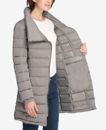 f626c8ab0 DKNY Asymmetrical Packable Puffer Coat in 2019 | Products | Coat ...