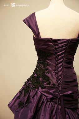 The Beautiful Corset Back On The Angela Wedding Dress In Purple