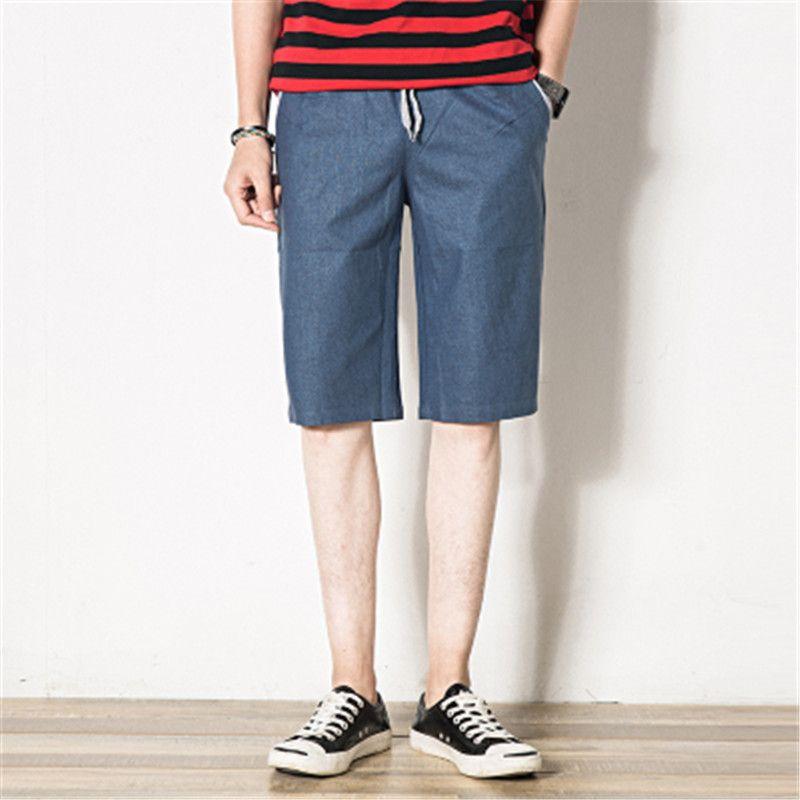 2017 Men's Summer Denim Blue breathable shorts Men Short Pants ...