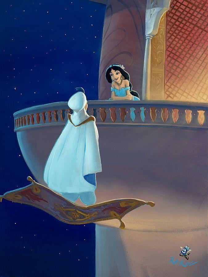 Jasmine Terrace: Disney Jasmine, Disney Fine Art, Disney