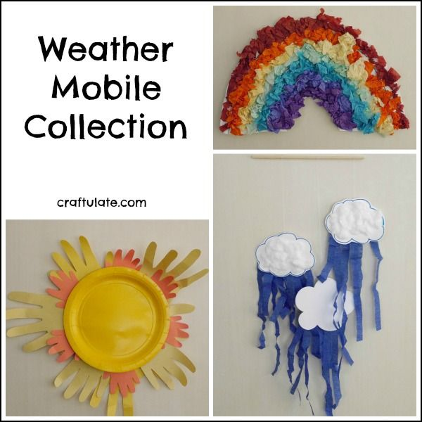 This Weather Mobile Collection Includes A Rainbow Sun And Cloud Fun Crafts For