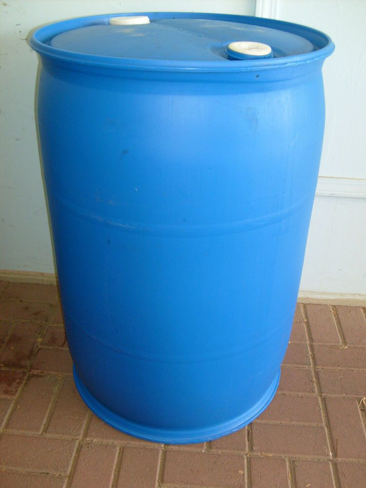 Blue Plastic Barrel Drum 55 Gallon Flotation Storage Many Uses Free Shipping Plastic Barrels For Sale 55 Gallon Gallon