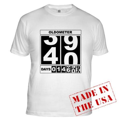 65ad06f67 40th Birthday Oldometer Light T-Shirt | Daniel 40th | 40th Birthday ...