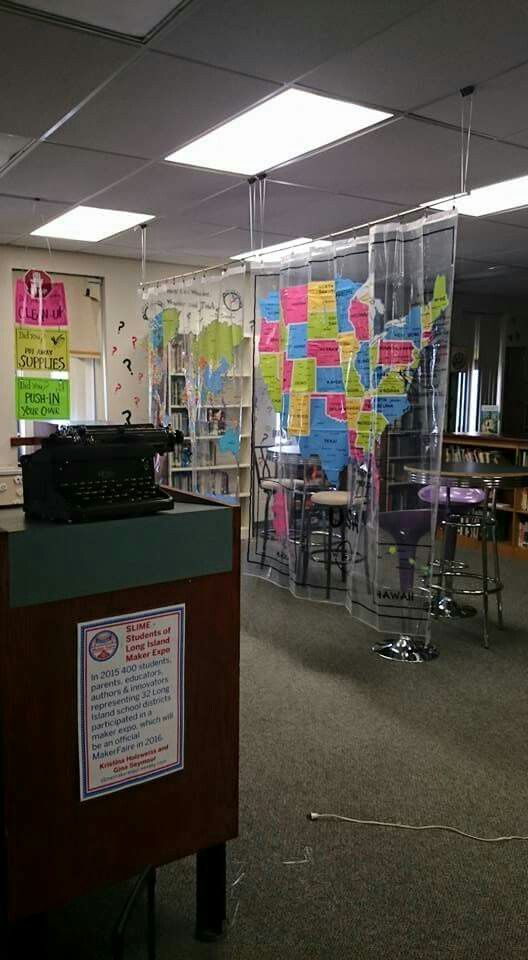 Binder Clips From The Ceiling Tiles Curtain Rods Suspended