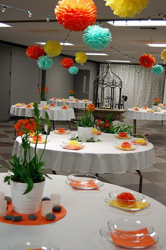 Real Parties Indoor Garden Party Bachelorette Party Ideas