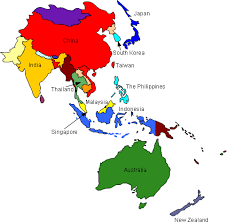 image result for asian pacific countries map