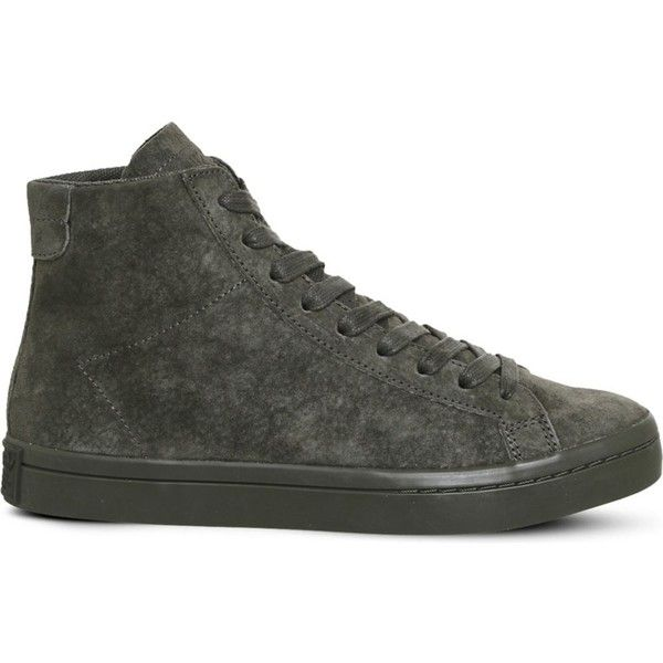 low priced 6fbec 70d7c ADIDAS Court Vantage high-top suede trainers ( 79) ❤ liked on Polyvore  featuring shoes, sneakers, suede lace up shoes, laced shoes, adidas trainers,  adidas ...