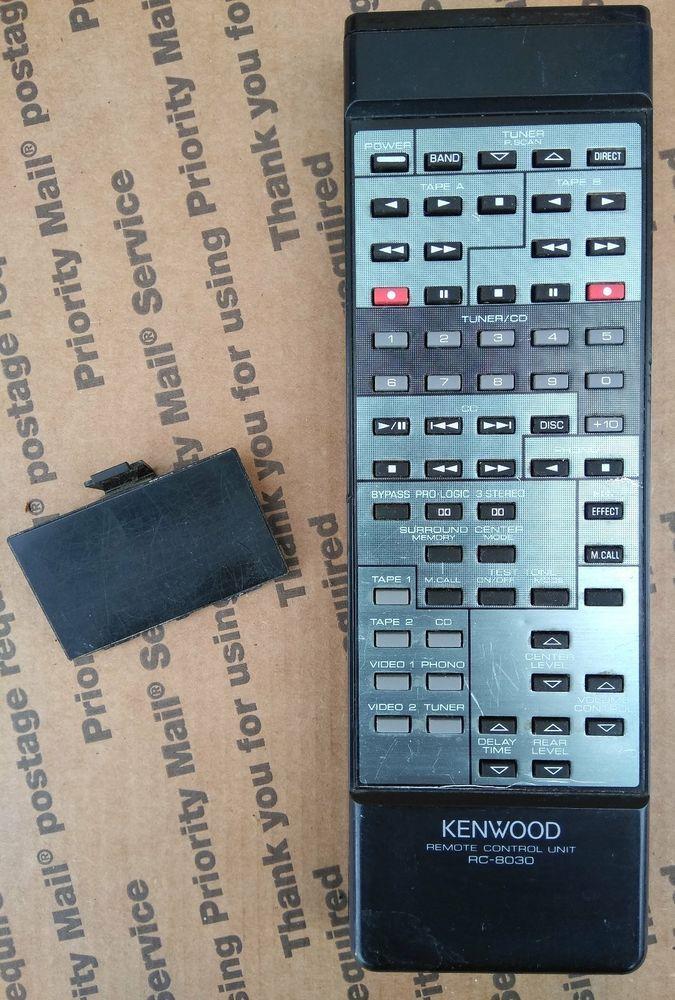Genuine Kenwood RC-8030 Remote Control - Krv7030, Krv8030 - Tested w ...