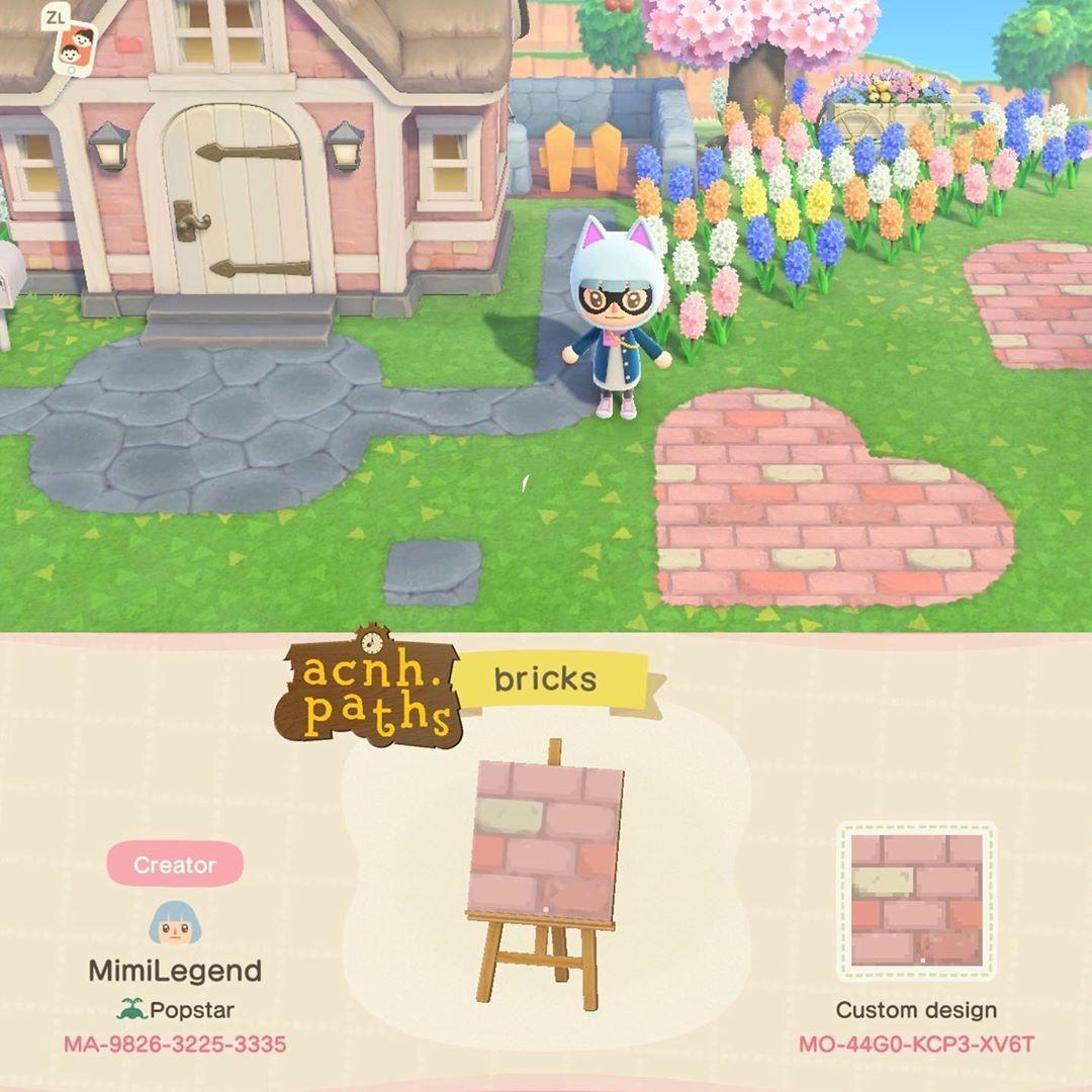 "Animal Crossing Patterns on Instagram: ""Pink bricks that ..."